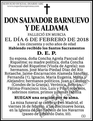 Salvador Barnuevo y de Aldama